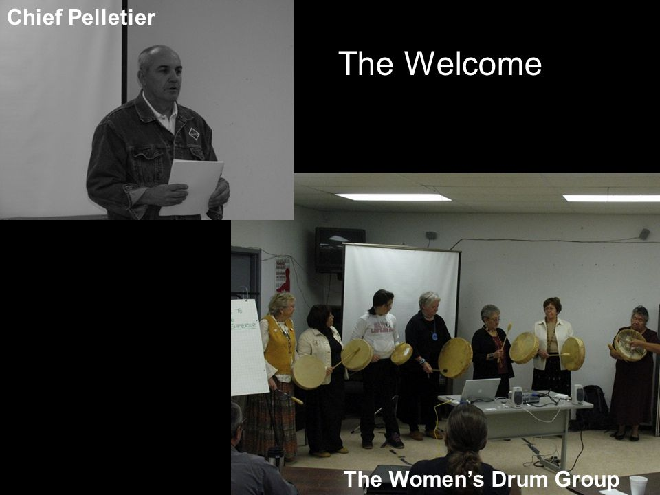 The Welcome Chief Pelletier The Women's Drum Group