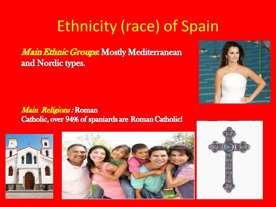 Ethnicity (race) of Spain