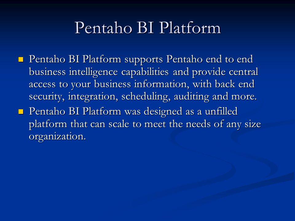 Pentaho BI Platform (2)