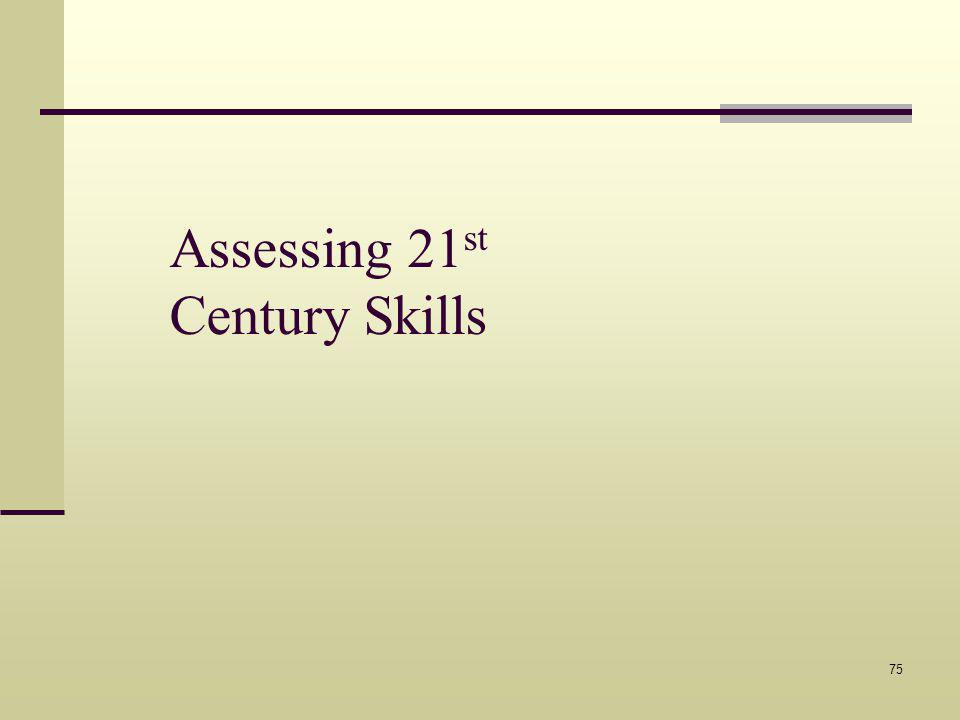 Assessing 21 st Century Skills 75