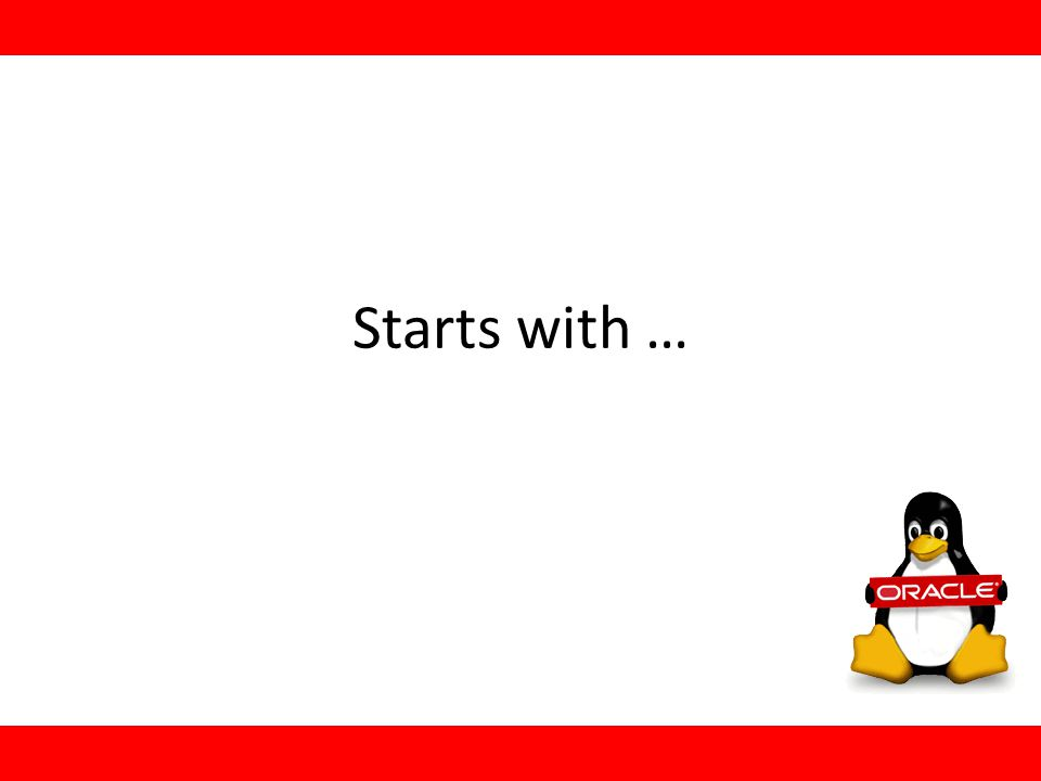 Starts with …