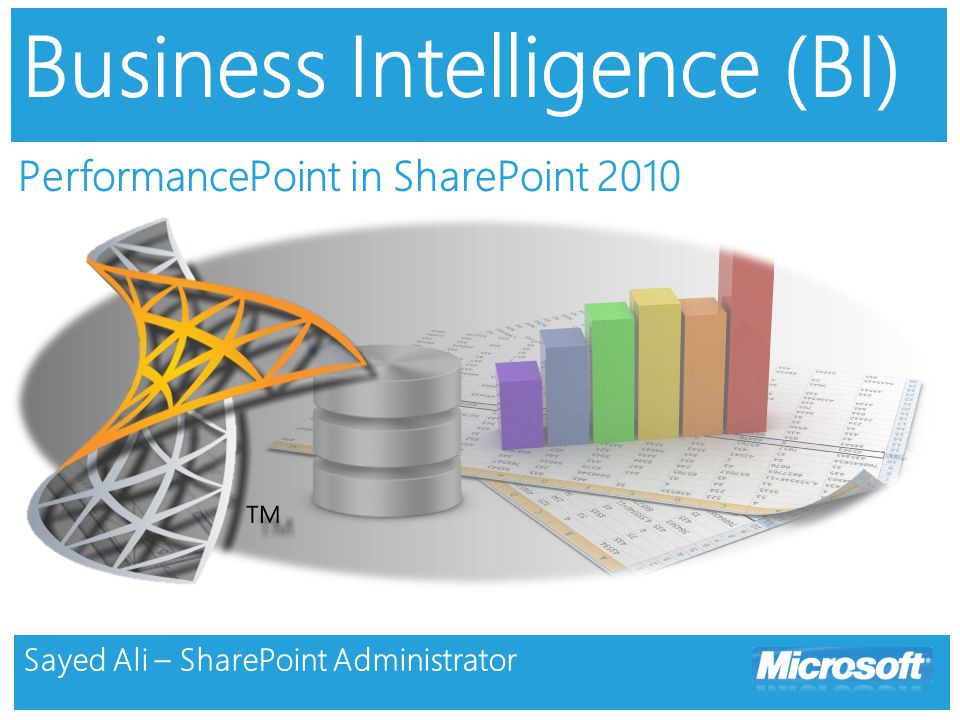 Agenda Defining Business Intelligence Introducing PerformancePoint Services 2010 Demo BI Architecture Multidimensional Database Questions & Thank you