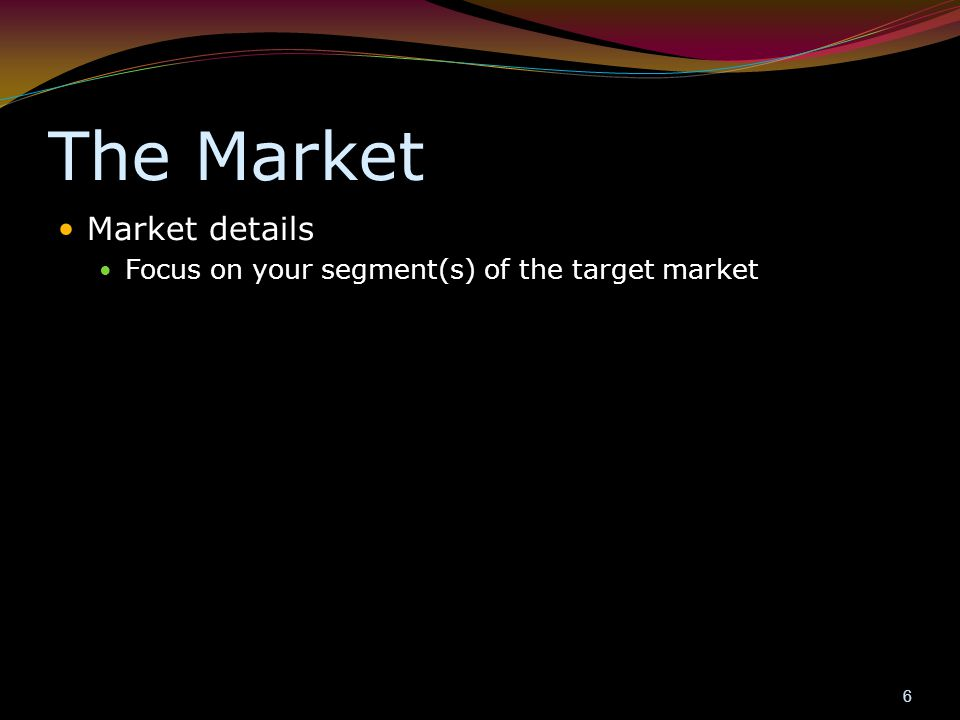Promotion /Market Strategy Who are the key players.
