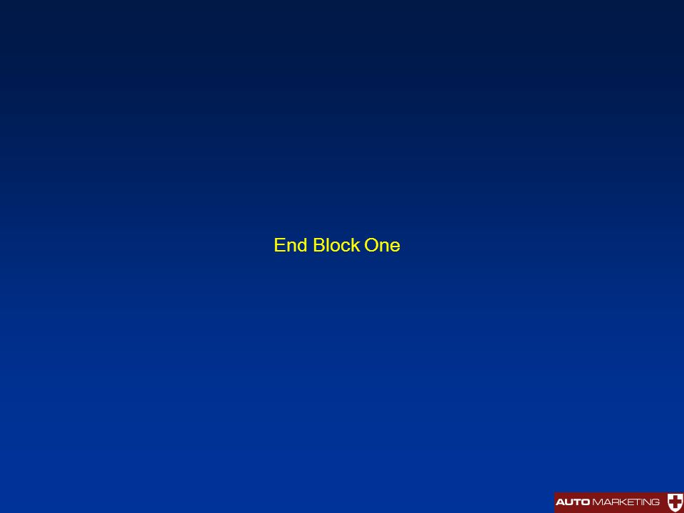 End Block One