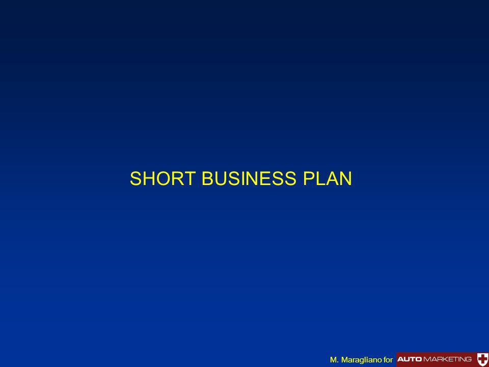 SHORT BUSINESS PLAN M. Maragliano for