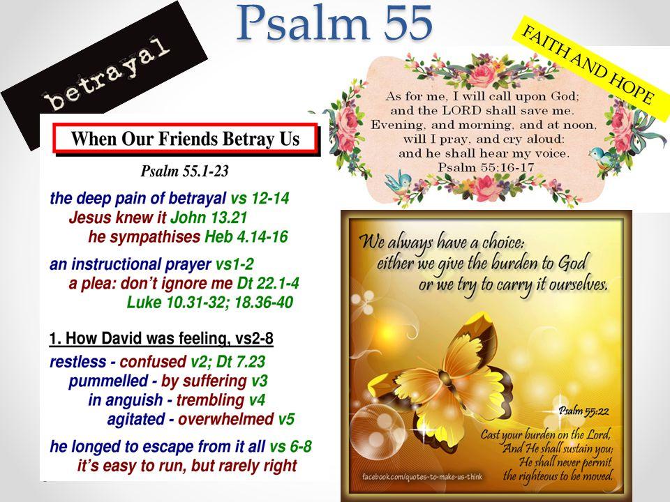 Psalm 55 FAITH AND HOPE