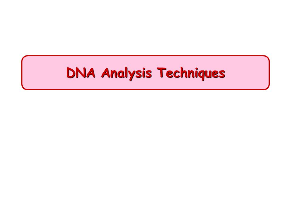 DNA analysis: Fundamental techniques Techniques –Gel electrophoresis –Restriction analysis –DNA hybridization –DNA sequencing –RFLP (Restriction fragment length polymorphism) Applications of rDNA Technology –Basic research –Medical applications –Forensic applications –Agriculture applications –Environmental applications