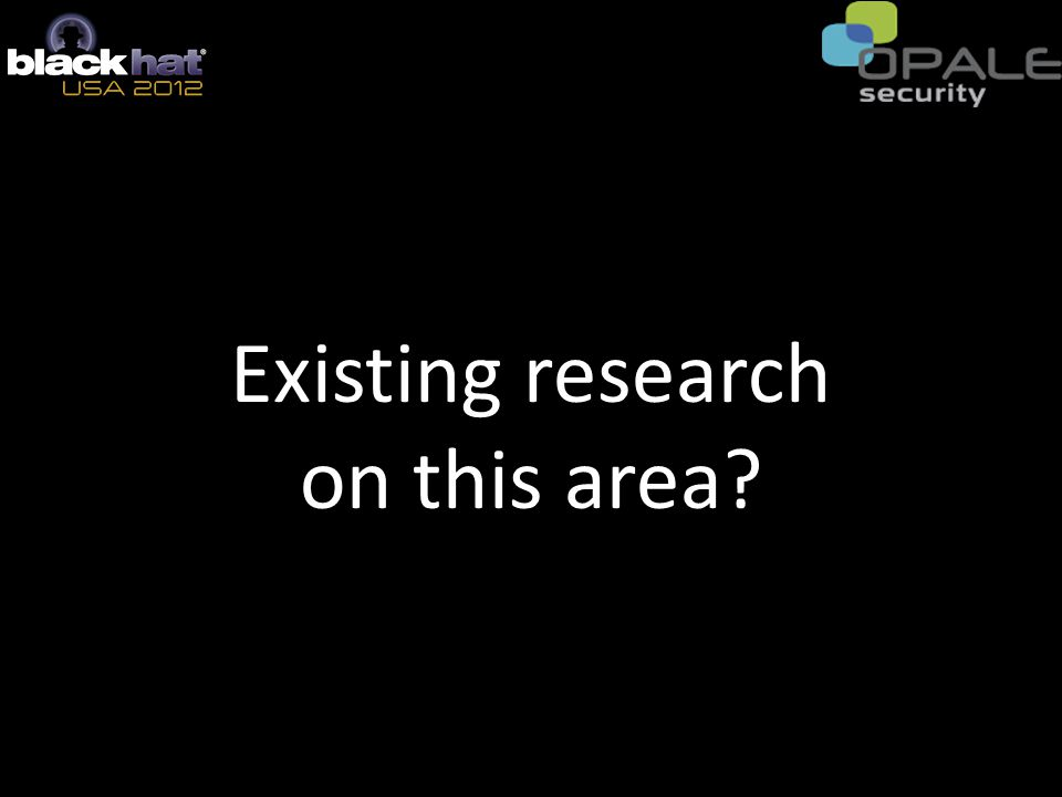 Existing research on this area?