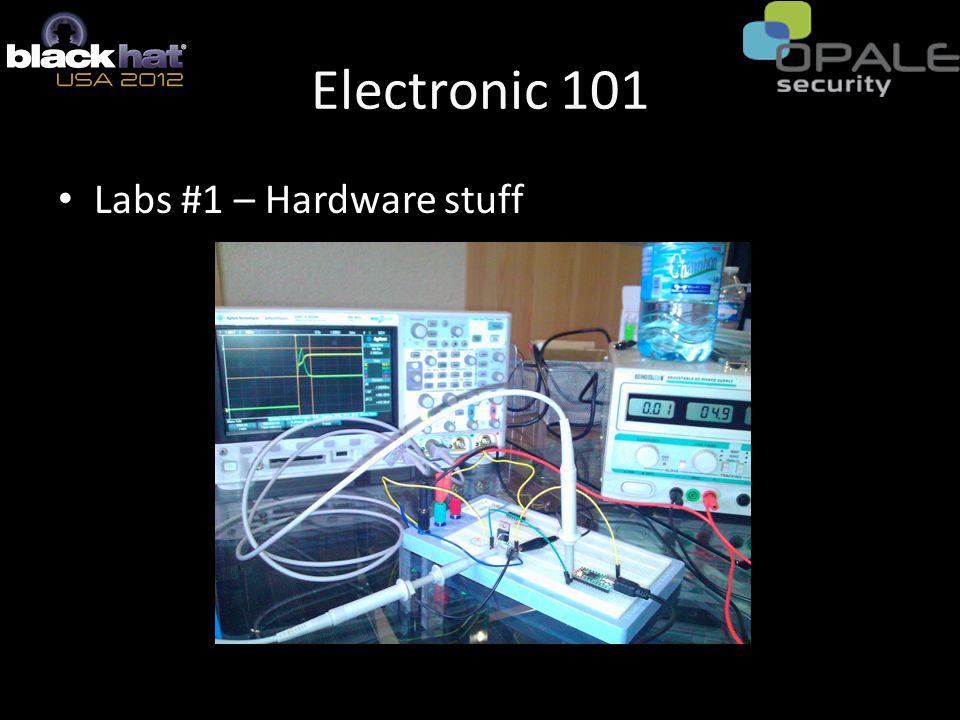 Electronic 101 Labs #1 – Hardware stuff