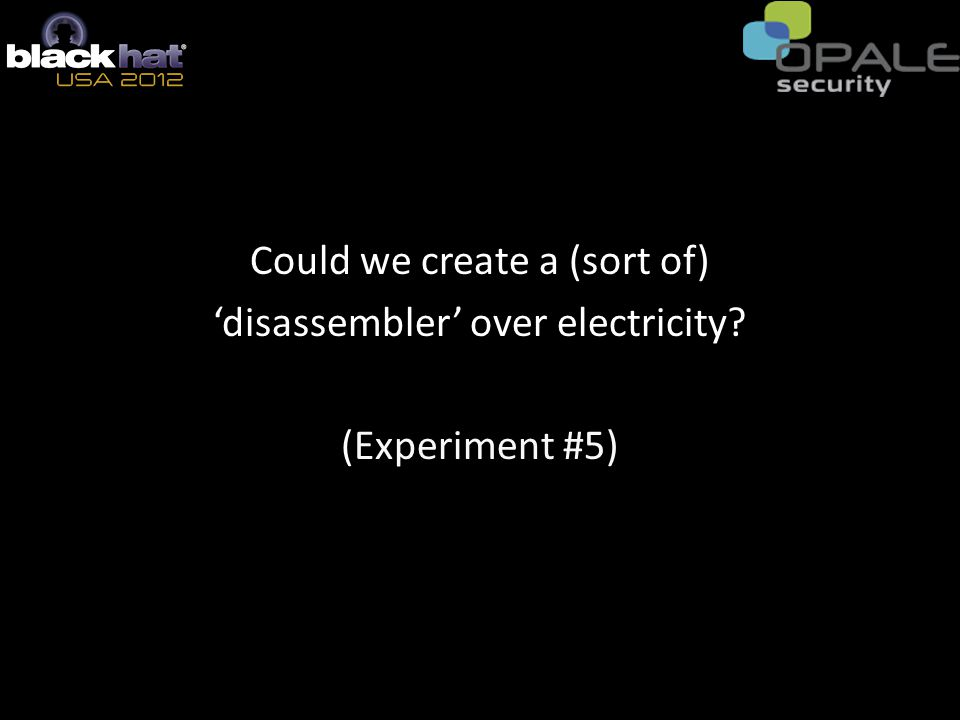 Could we create a (sort of) 'disassembler' over electricity? (Experiment #5)
