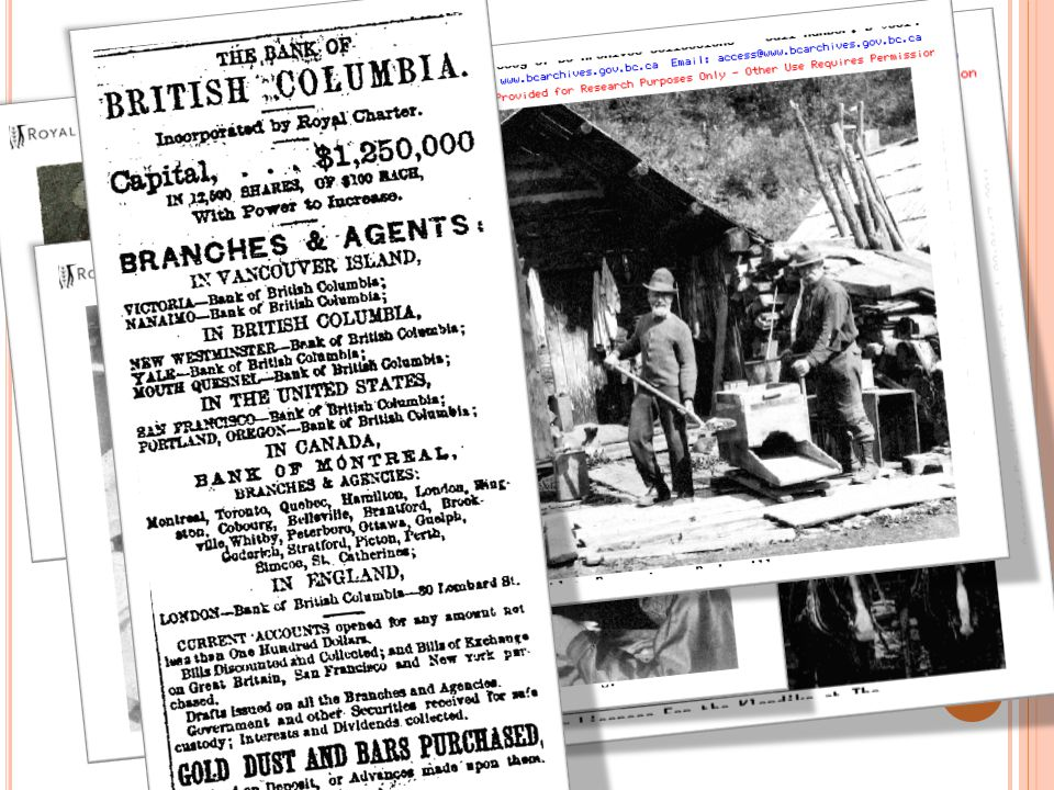 T AKE AWAYS …  General historical overview of the locales, main events, and major participants involved in the Cariboo Gold Rush.