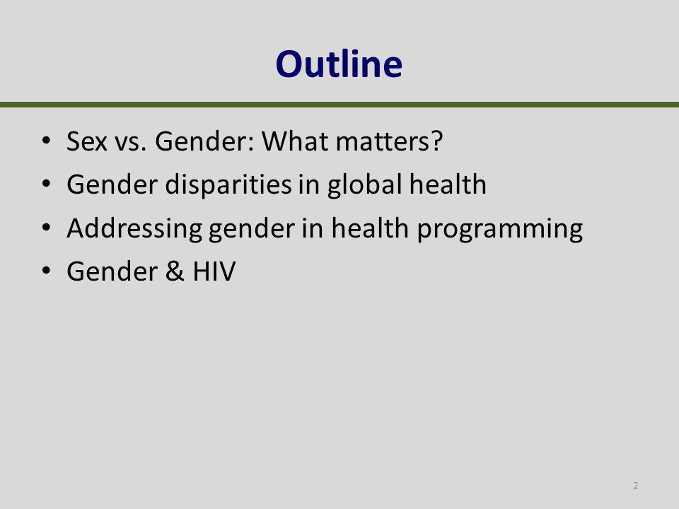 Sex vs. Gender: What matters.