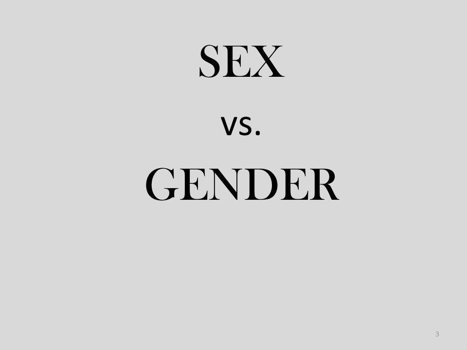 SEX vs. GENDER 3