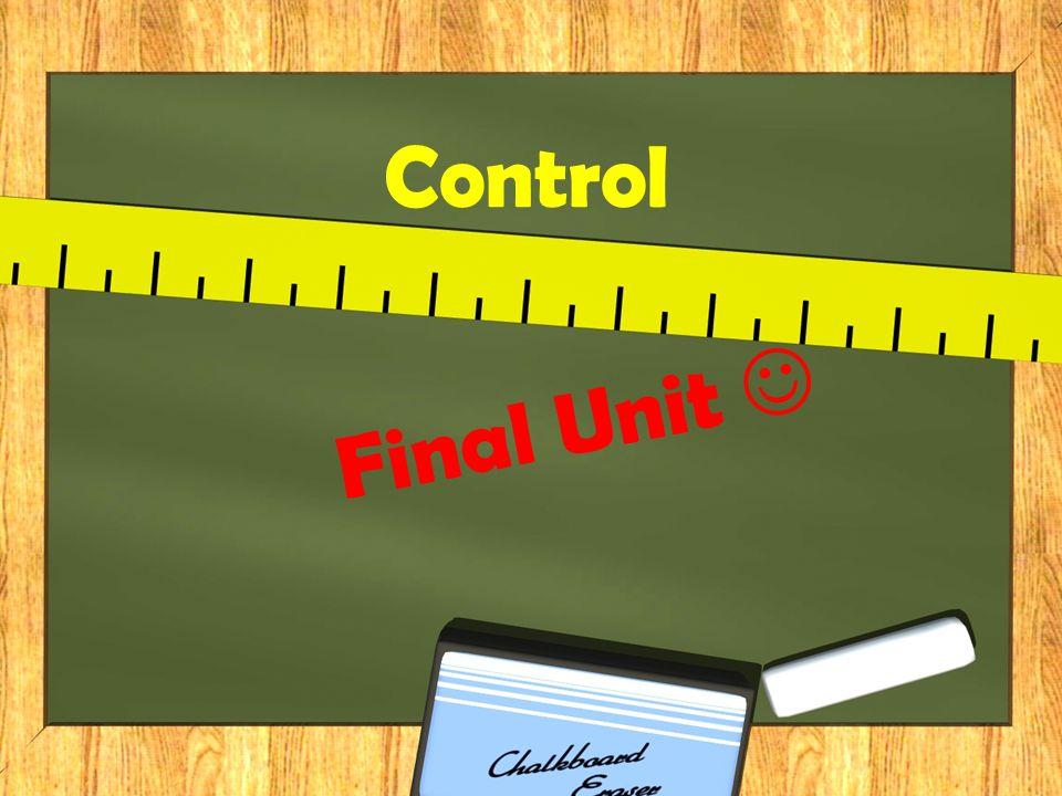 Control Final Unit