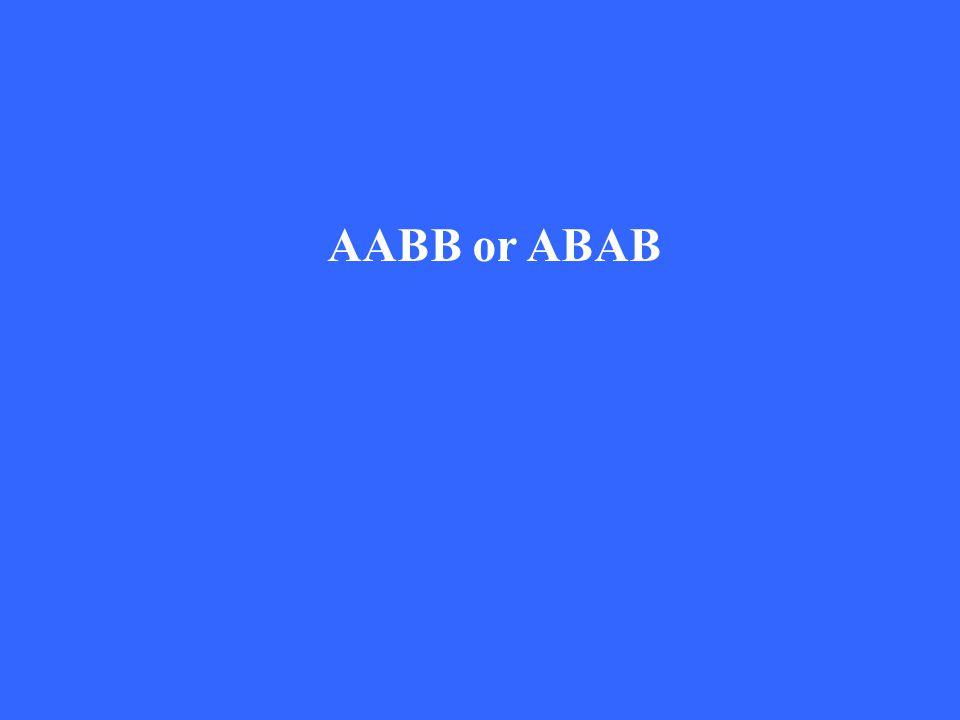 AABB or ABAB