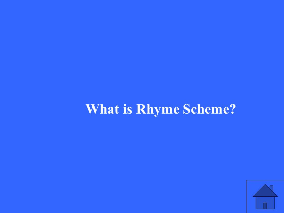 What is Rhyme Scheme?