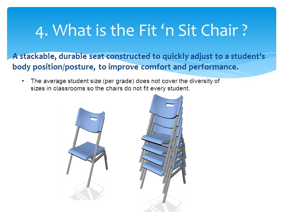 4. What is the Fit 'n Sit Chair .
