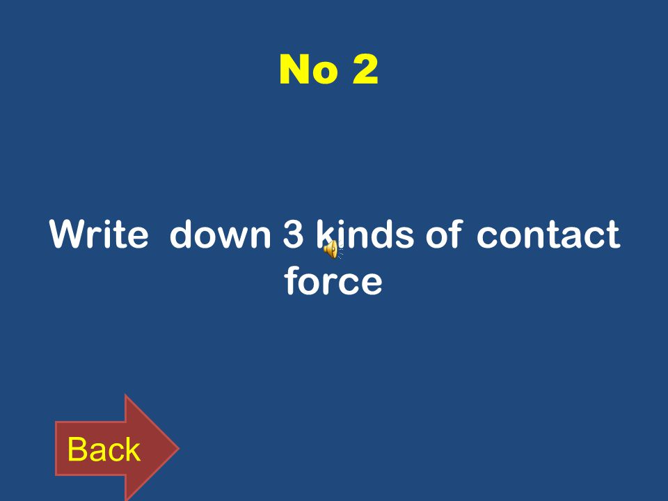 No 2 Write down 3 kinds of contact force Back
