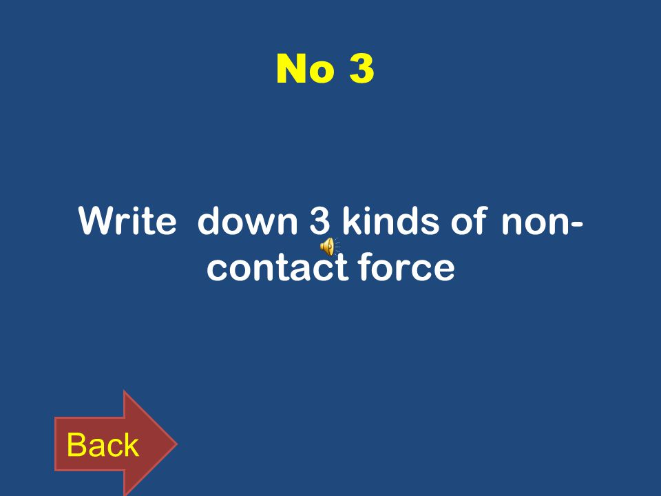 No 3 Write down 3 kinds of non- contact force Back