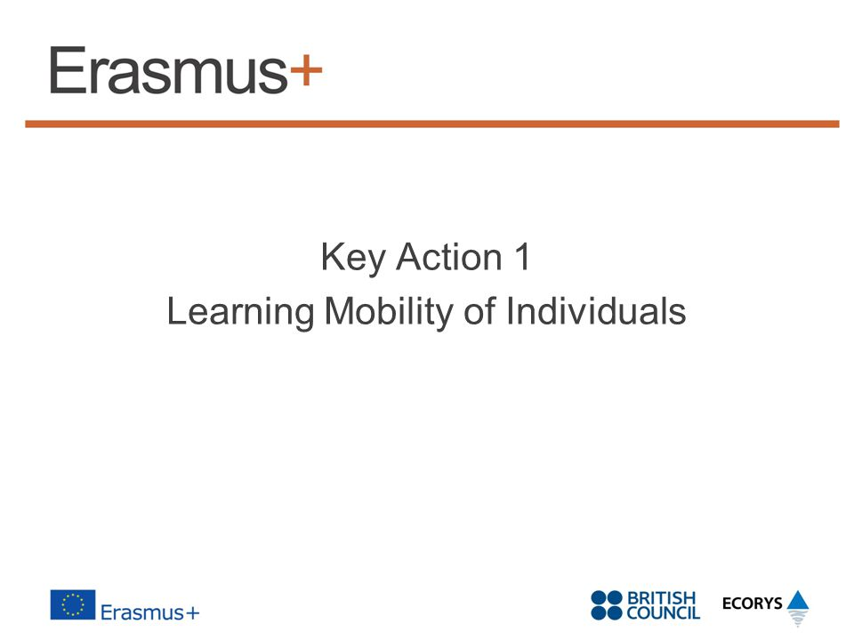 Key Action 1 Learning Mobility of Individuals