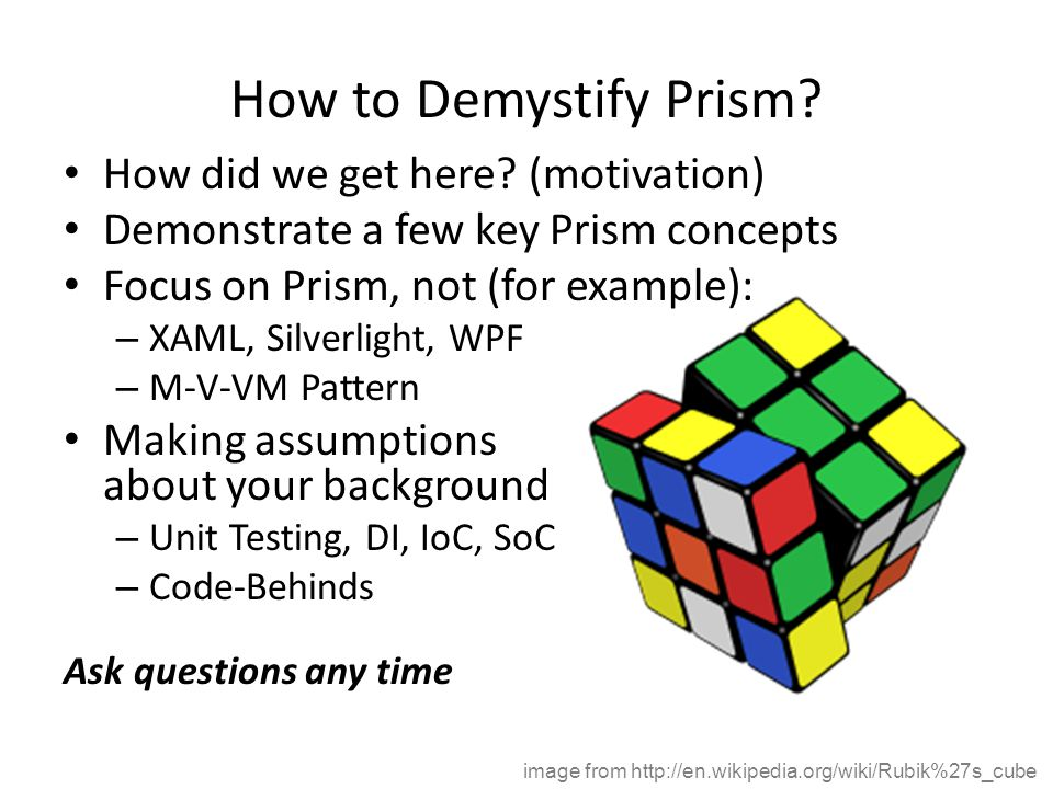 How to Demystify Prism.How did we get here.