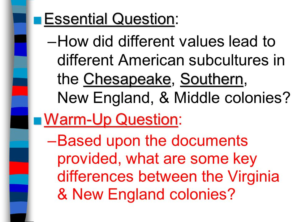 The Middle Colonies: New York, New Jersey, Pennsylvania, Delaware