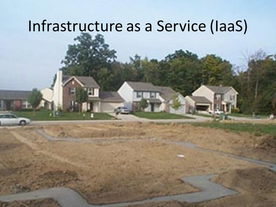 Infrastructure as a Service (IaaS) http://z.about.com/d/architecture/1/5/K/J/hu dson-house1008f.jpg
