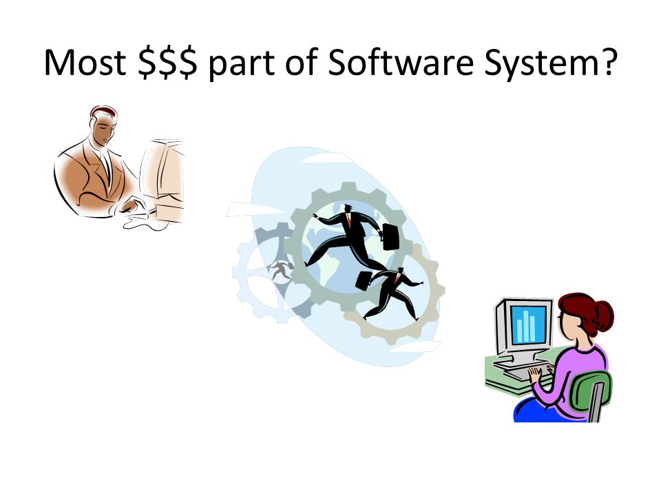 Most $$$ part of Software System