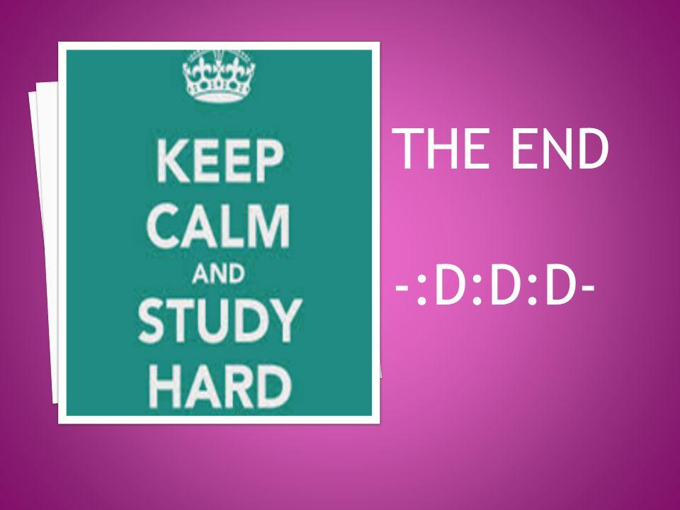 THE END -:D:D:D-