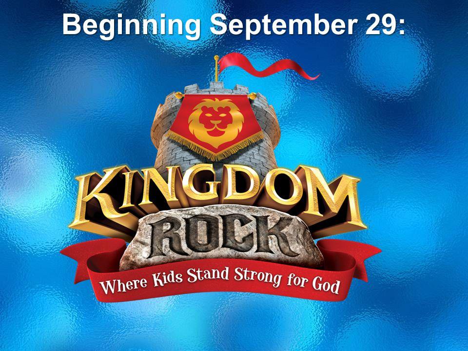 Beginning September 29: