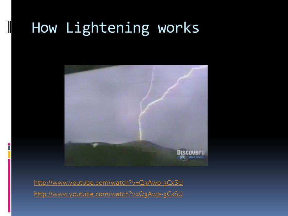 How Lightening works http://www.youtube.com/watch v=Q3Awp-3CxSU
