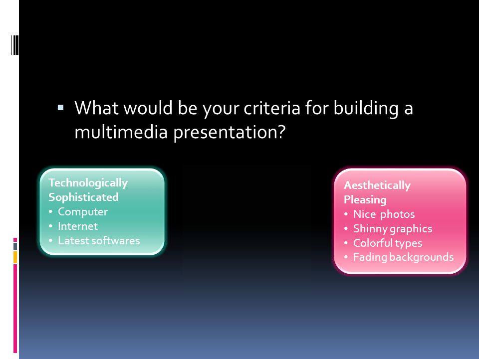 Human-centered multimedia Active processing 1.Selecting relevant words 2.