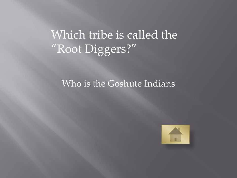Which tribe is called the Root Diggers Who is the Goshute Indians