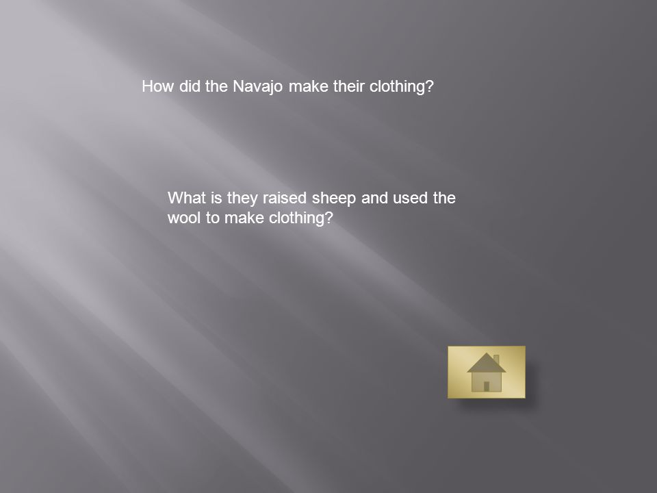 How did the Navajo make their clothing.