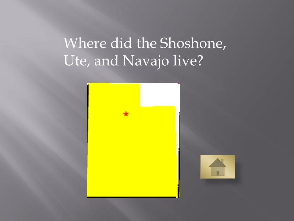 Where did the Shoshone, Ute, and Navajo live