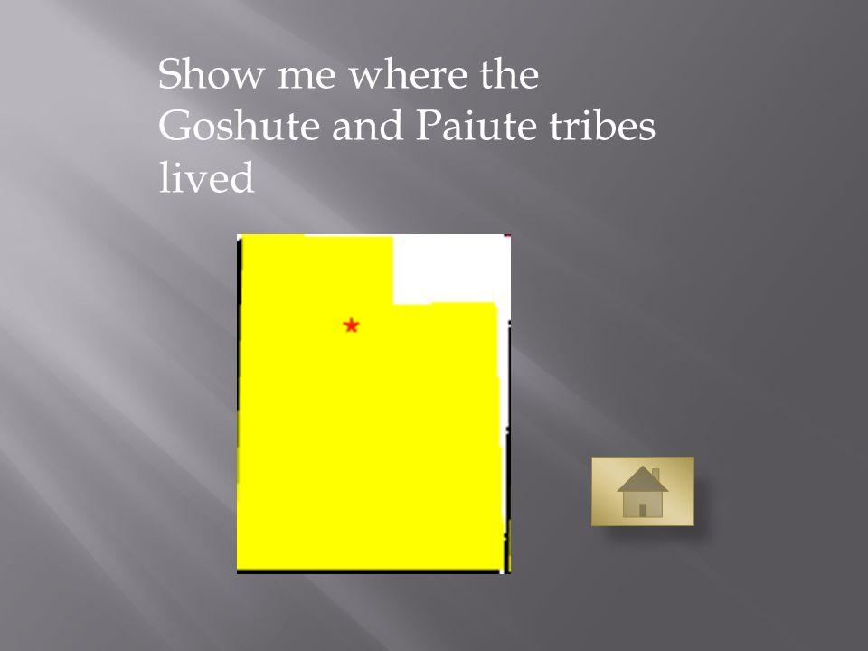 Show me where the Goshute and Paiute tribes lived