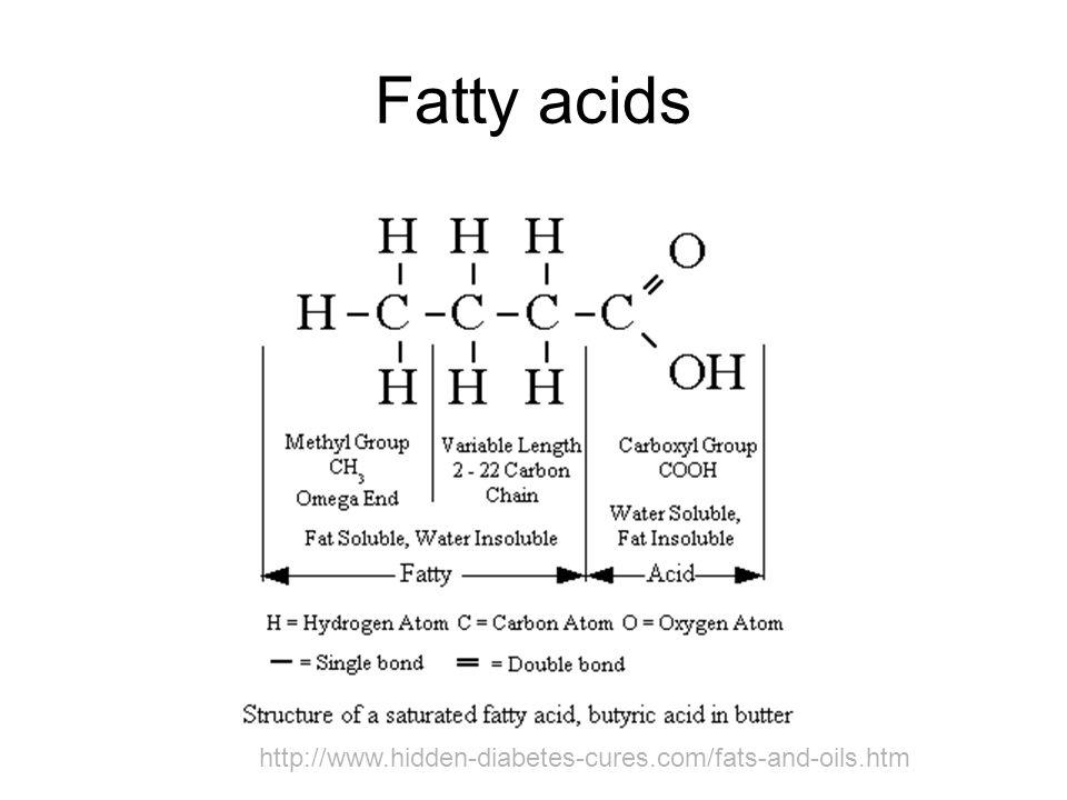 Fatty acids http://www.hidden-diabetes-cures.com/fats-and-oils.htm