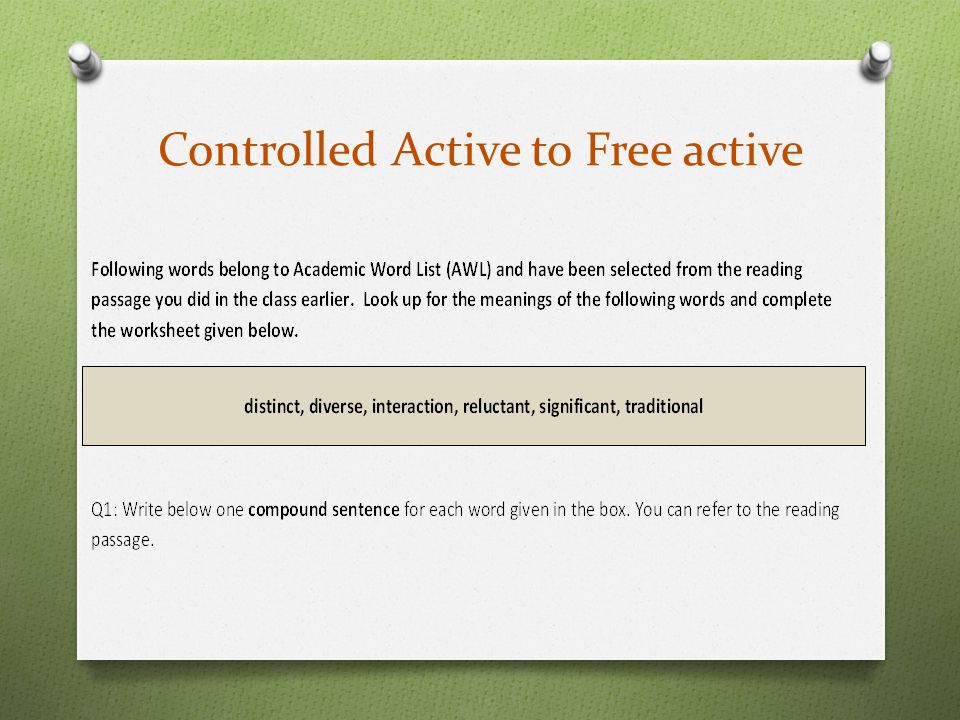 Controlled Active to Free active