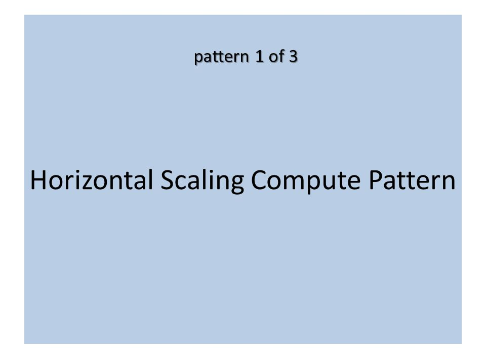 Horizontal Scaling Compute Pattern pattern 1 of 3