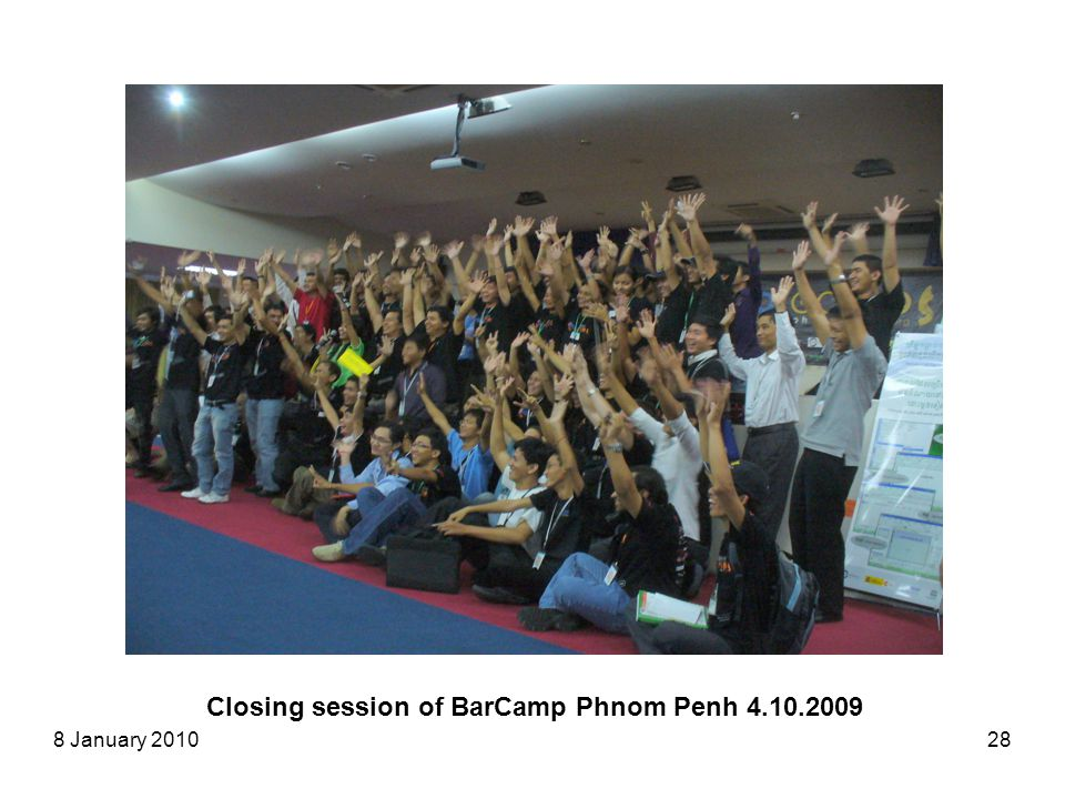 8 January 201028 Closing session of BarCamp Phnom Penh 4.10.2009