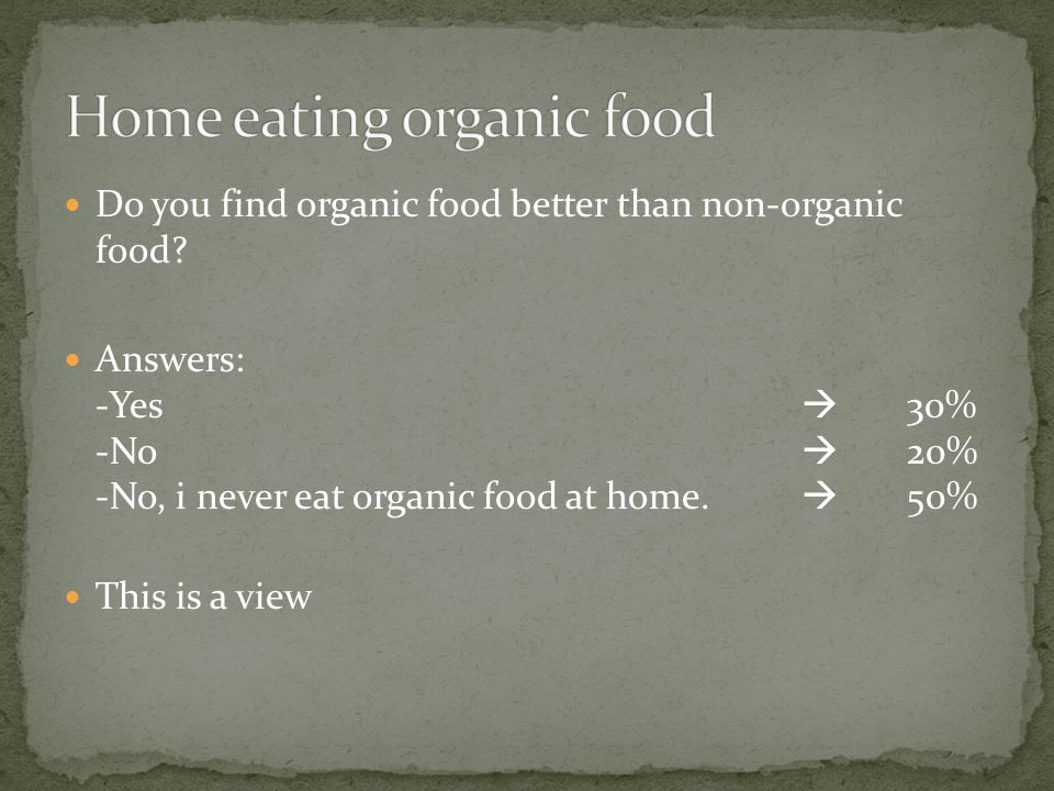 Do you find that prices of organic food are too expensive.