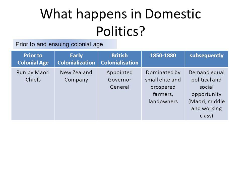 What happens in Domestic Politics.