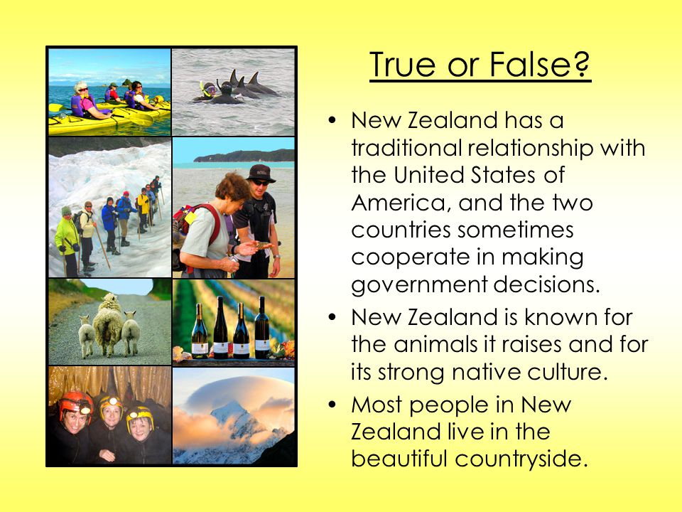 True or False? New Zealand has a traditional relationship with the United States of America, and the two countries sometimes cooperate in making gover