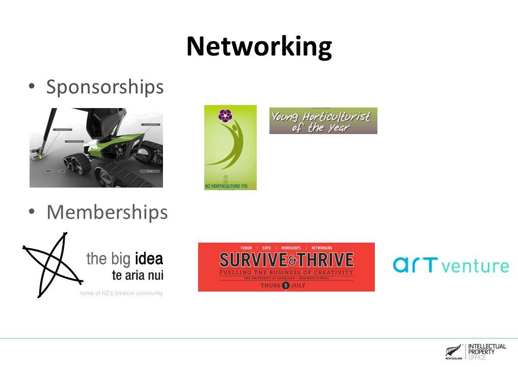 Networking Sponsorships Memberships