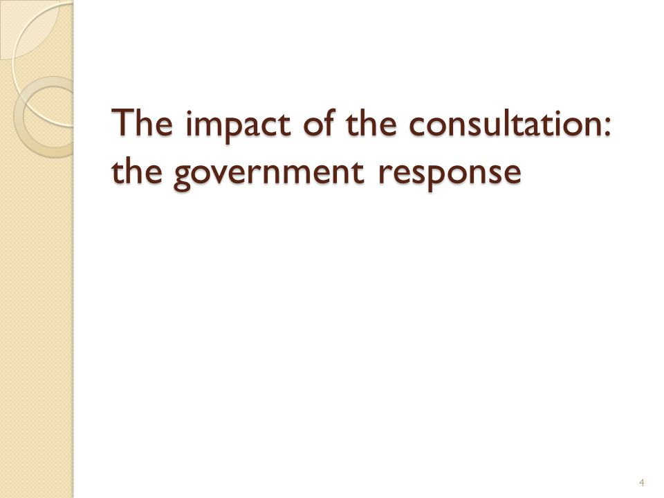 Consultation: government response Overarching and subject aims retained Spoken language programme of study (Y1-6) Improved D&T structured according to the process: Design/Make/Evaluate/Technical knowledge incl.