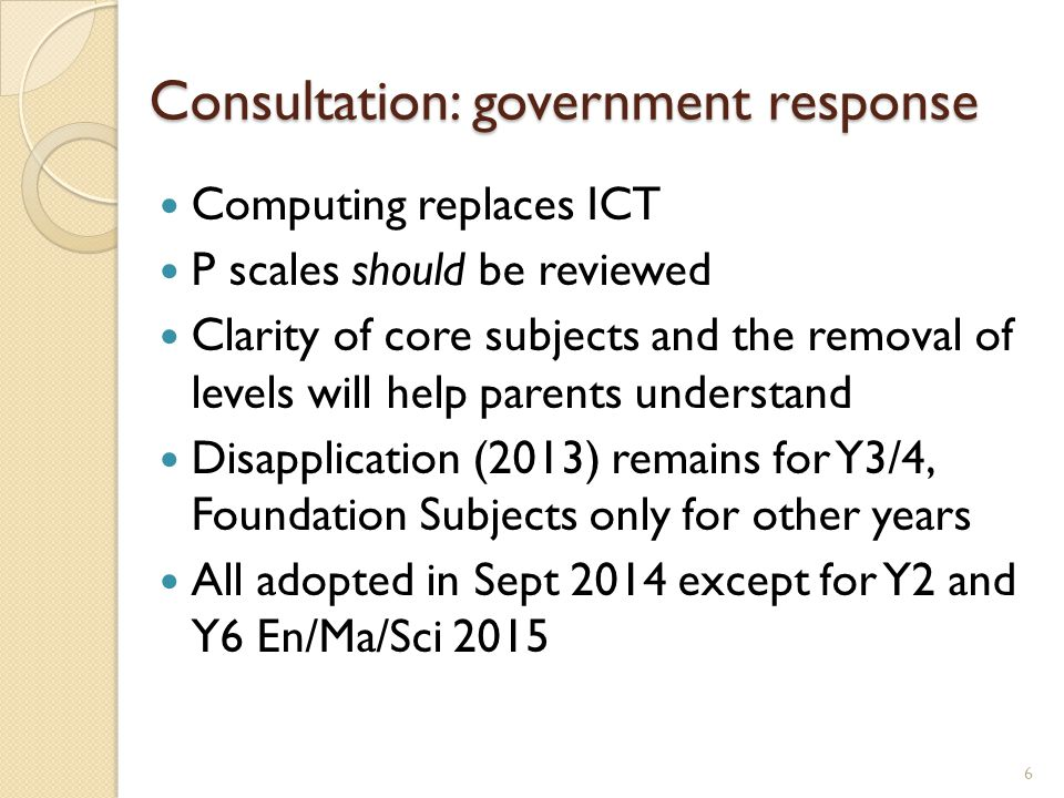 Transition issues Year 3 and 4, and foundation subjects – current situation re disapplication Assessment and tracking 2013 – 2016 (retaining current systems as new systems are introduced) Need for detailed assessment information to identify any gaps in knowledge/skills on transition 7
