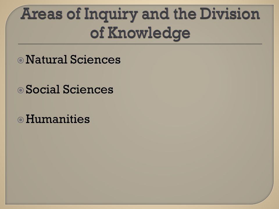  Natural Sciences  Social Sciences  Humanities