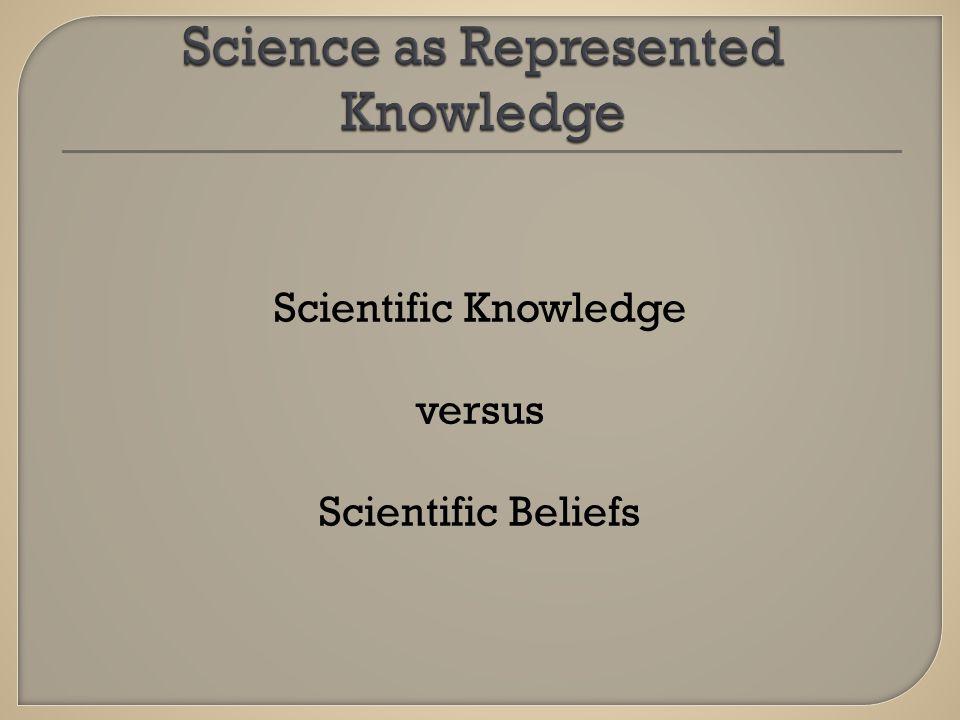 Scientific Knowledge versus Scientific Beliefs