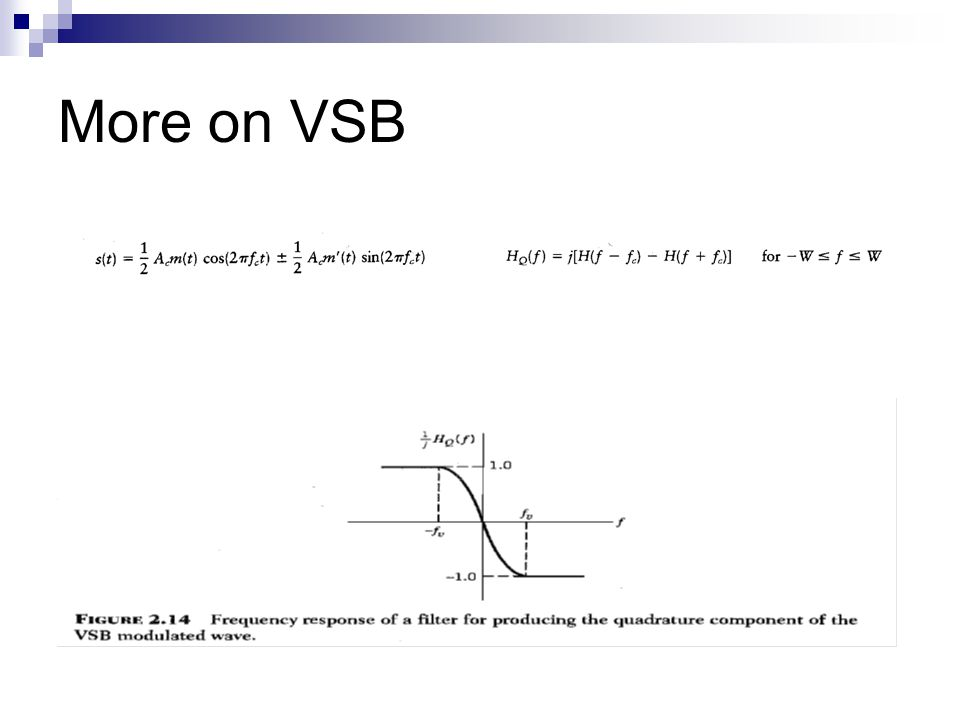 More on VSB