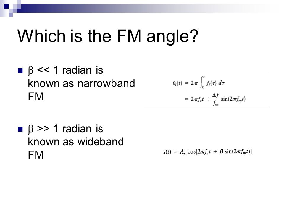 Which is the FM angle.